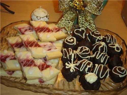 """Зато сладкого было много: Печенье """"трюфель""""спасибо Аин, Фруктовое пирожные,спасибо Аин,на прошлый Н - 2"""