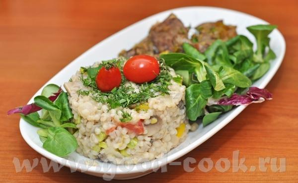 Перлотто (орзотто\ orzotto) с грибами и овощами Перловая крупа - 1,5 стакана шампиньоны свежие 300...