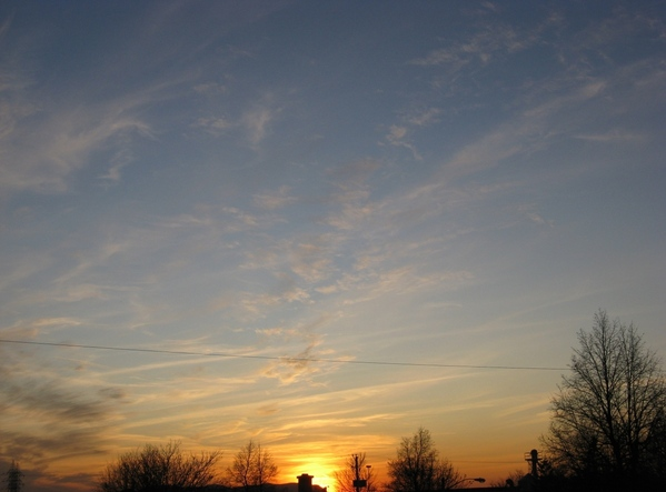 вечернее небо закат