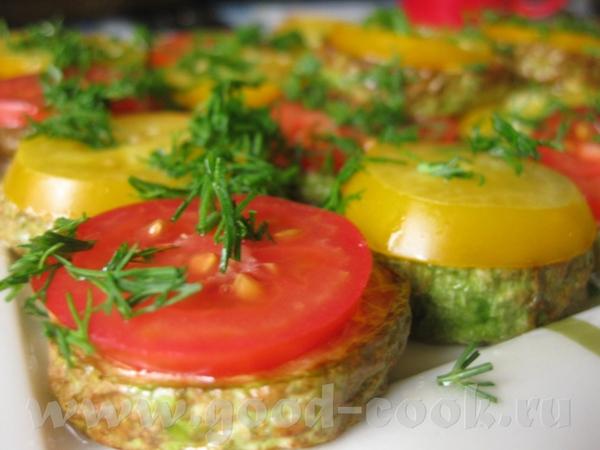 Закуска из цуккини с томатами в чесночно-уксусном соусе от Очень вкусненько получилось, спасибо Али...
