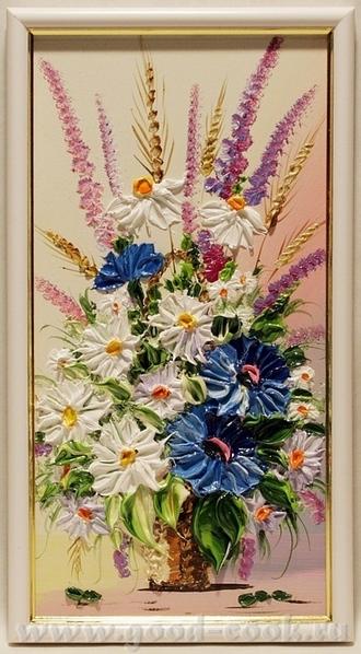 Девочки, скажите пожалуйста вот в такой технике объемными густыми мазками когда цветы рисуют - КАК...