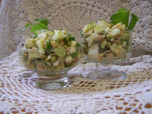 Рыбный салат с горошком от Вalерия ( с РП )
