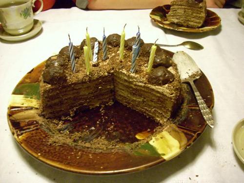 - Трюфельный торт от Мишель, фрукты, сливы в роме (у меня в коньяке) и тут уже пошёл особый курс- в... - 3