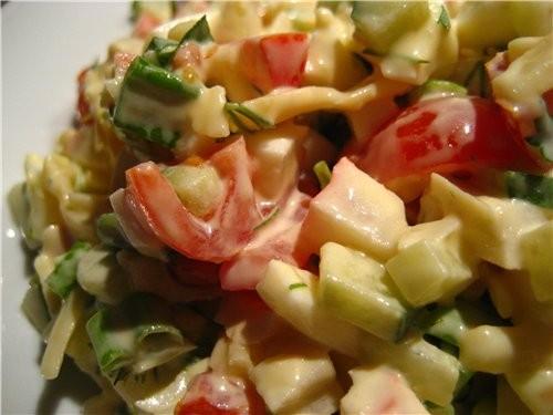 Для любителей салатов из крабовых палочек