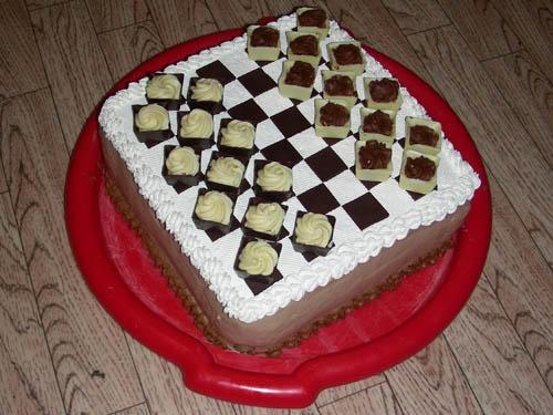 А у меня в этот раз получилась такая вот доска Можно поиграть в шашки конфетами - 2