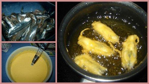 Boquerones aliсados rebozados en harina de tempura Анчоусы в кляре анчоусы - 500 г соль, черный пер... - 5