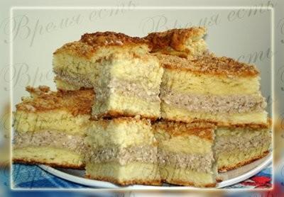 Пирог к чаю с творожно-ореховой начинкой