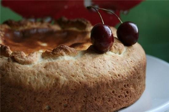 Пирог с черешней Для теста: 200 г муки 100 г мягкого творога 2 ст - 3