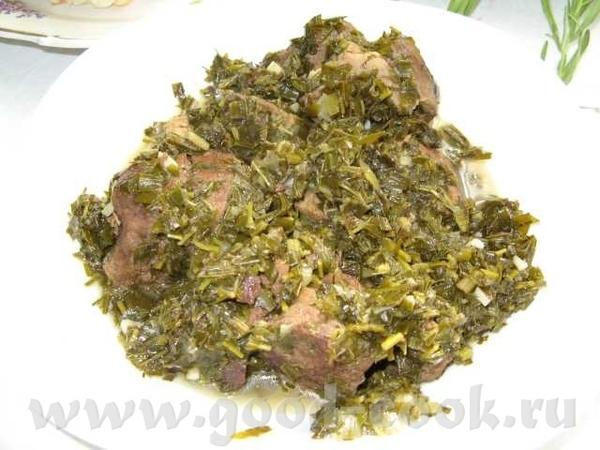 Молодая баранина тушенная с большим количеством зелени - 2