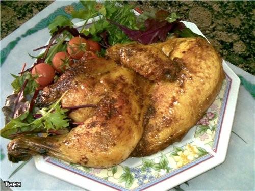 Куриные крылышки и окорочка в томатно-горчичном соусе