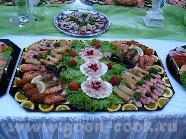 Ездили на свадьбу и я запечатлела стол с холодными закусками - 7