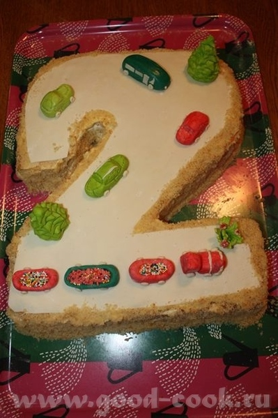 Девочки, вот закончила в ночи торт ребенку на завтрашний праздник