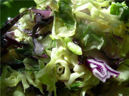 Салат Maison с голубым сыром 1/3 салата Айсберг(мелко нашинкован) 1/4 красной капусты (мелко нашинк... - 2