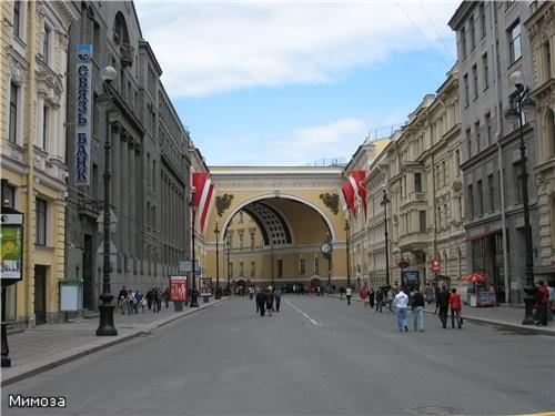 А это уже арка Главного штаба (помните показывала вам на Дворцовой площади