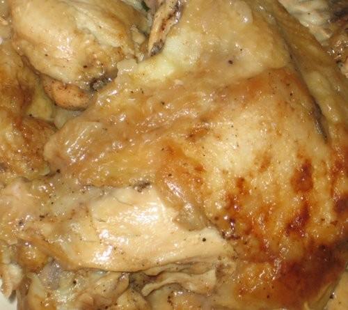 Блюда от , Жареная курица с соусом из зеленого лука и сельдерея (Только соуса не видно, я им полива...