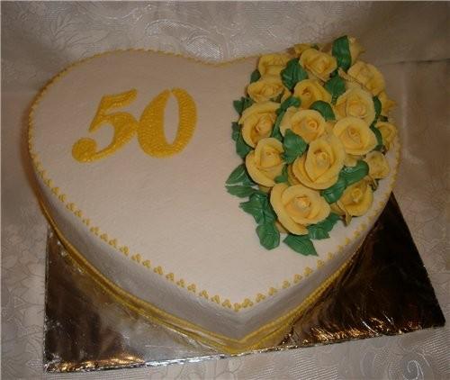 Фото торта к юбилею 50