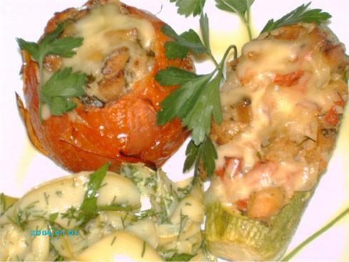 Спасибо Машеньке-marika за фаршированные помидорки и за кабачки Таглиателли