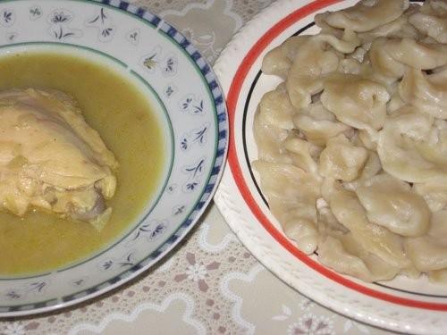 Чеченские галушки с курицей и соусом от Сделала давно, еще месяц назад , отчитываюсь только сейчас
