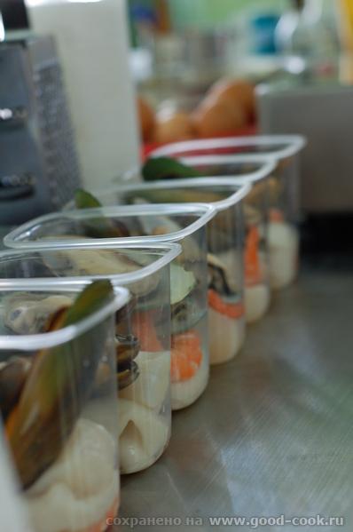 Подготовка томатной базы для супа Подготовленные морепродукты Овощи для салата, сбланшированные в п... - 2