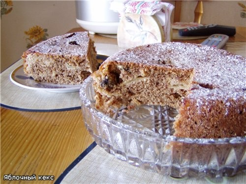 Яблочный кекс с шоколадом (ОТ Шулы Модан ) Вот так написано в книге: Подготовка продуктов: 10 минут...