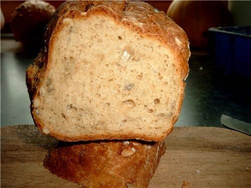 А я делала Вот Такой хлеб на соде и твороге