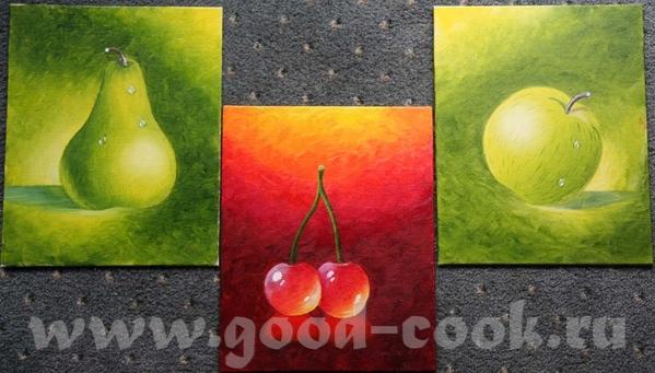 Девочки я тут так радовалась нарисовав яблока что не удержалась и вот какое трио у меня получилось...