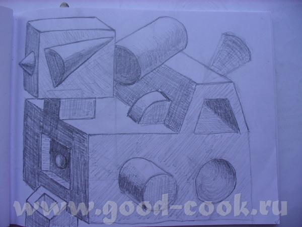Это делаю в блокноте зарисовки пока еду в электричке: Это по-памяти на пленере: - 4