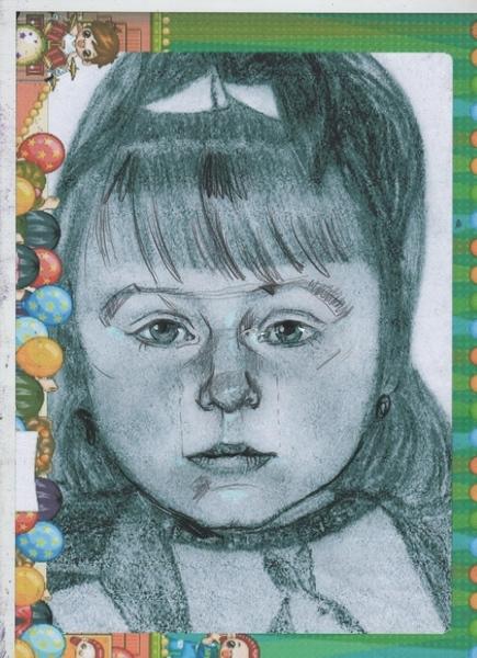 С разрешения Сергея покажу поправки к его портрету дочи - 2