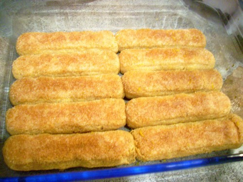лёгкая модификация вкуса и приготовления классического тирамису: вместо готовых печений бисквит над... - 3