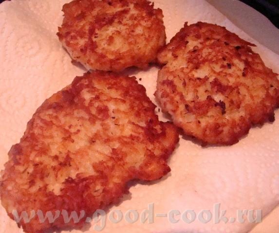 продолжение Куриных драников Мы остнановились на том, что нужно смешать мясную массу и картофель См... - 5