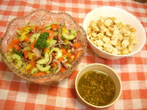 Ещё один салат- итальянский с хлебом - 2