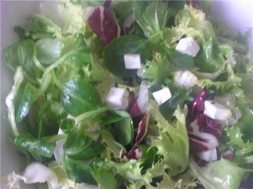 Салат с кедровыми орешками и оливковым маслом- все виды салата, которые подвернулись под руку - 2