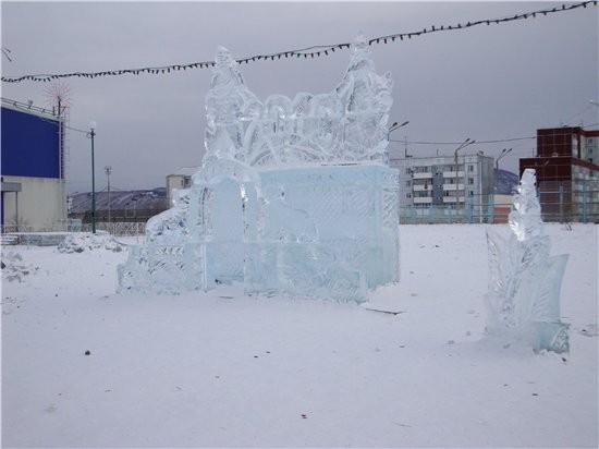немножко красоты ледовой сюда поставлю рыбка желаний ледовая катушка вот и еще один новогодний праз... - 5