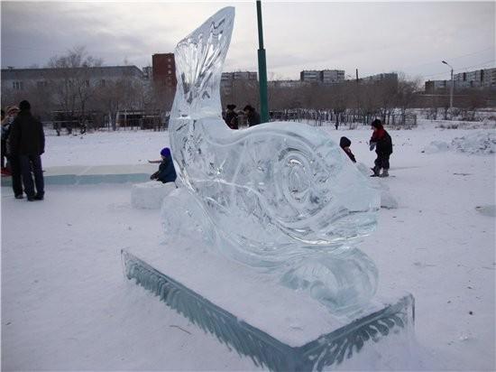 немножко красоты ледовой сюда поставлю рыбка желаний ледовая катушка вот и еще один новогодний праз... - 2