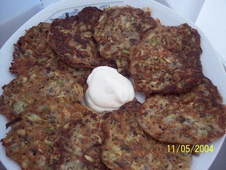 Оладьи из цуккини с шампиньонами от Olja