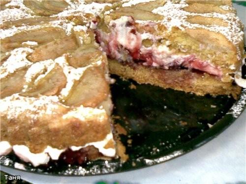 Пирог яблочный Пай с яблоками и смородиновым вареньем Грушевый пирог Пирог с бананми и сливами - 5