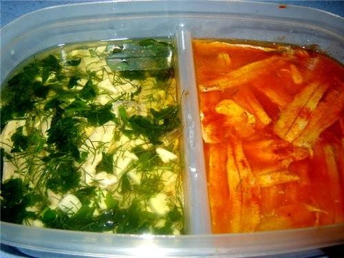 Boquerones en vinagre Анчоусы под маринадом Я сделала два вида маринада: 1 - 2