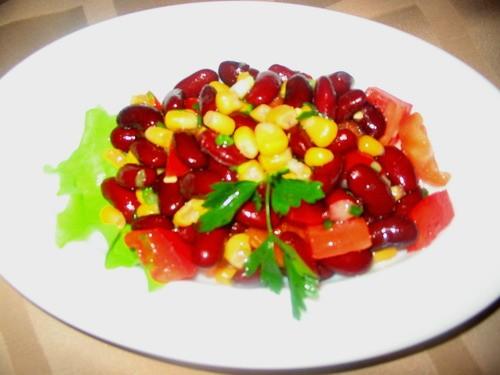 Еще салатики с крабовыми палочками и кукурузой И фасолевый - 2