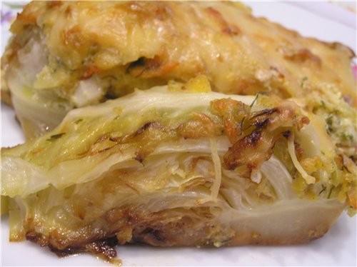 Чисто весеннее блюдо Запеченная молодая капуста 2 небольших кочана молодой капусты, 1 лук-порей, 2...