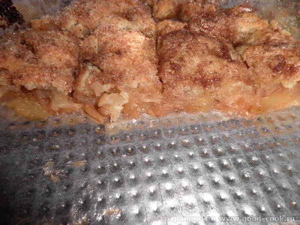 яблочный десерт под хрустящей корочкой 4