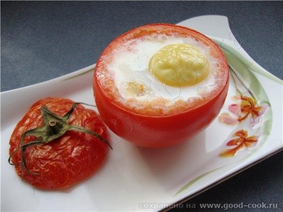 и еще один рецепт до полного счастья 6/50 рецептов из яиц Яйцо, запеченое в помидоре яйцо средний п... - 2