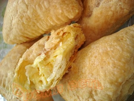 Слоеные пирожки с сыром и тунцом Просто с сыром - 2