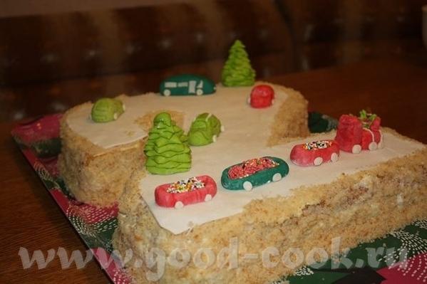 Девочки, вот закончила в ночи торт ребенку на завтрашний праздник - 3