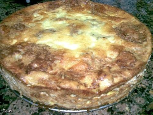 """Запеканка из капустных и кабачковых оладий с мясом Мясной """"кирпичик""""с грибами,сыром и еще"""