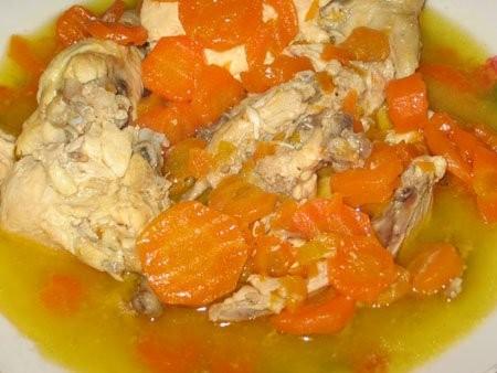 Курица с морковью - 2