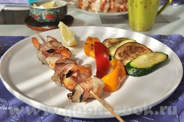 незамысловато и очень вкусно, с претензией на гурманство Рыба с креветками по-шанхайски Надо (на 4...