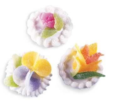 Чудесные цветочки и жучки из мармелада: