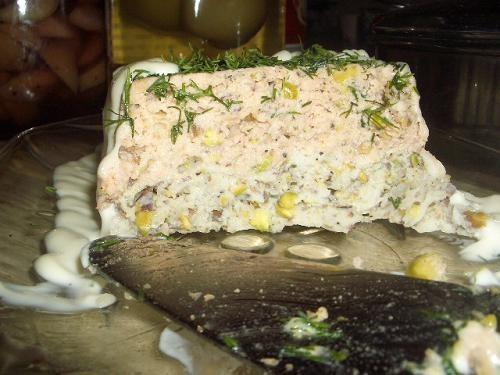 сырно-яичный рулет террин из красной и белой рыбы - 3