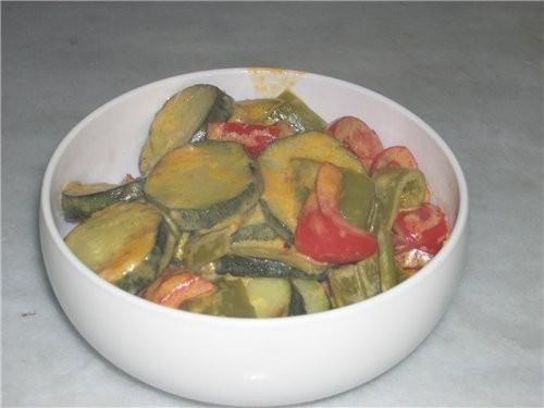 Ужин Тефтельки Кабачки в остром сметанном соусе - 2