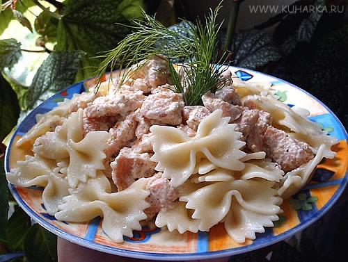 Олечка, спасибо за фарфалле с соусом из лосося и вот еще фото куриных шашлычков с овощами, которые...